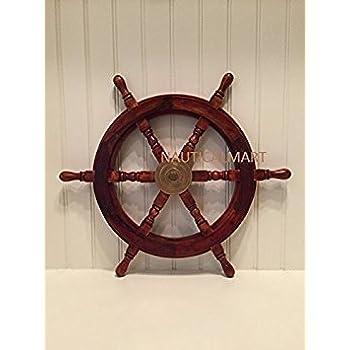 """SAILORS SPECIAL Wooden Ship Wheel, 15"""""""