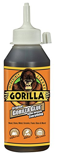 Waterproof Adhesive Purpose Wood - Gorilla Original Gorilla Glue, Waterproof Polyurethane Glue, 8 ounce Bottle, Brown