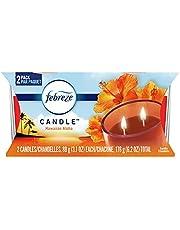 Febreze Scented Candle, Odor Eliminator Double Wick Candle, Hawaiian Aloha Scent, 3.1 oz, 2 ct
