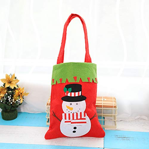 (Christmas gift bag candy bag hand-stitched, snowman {4 PCS})
