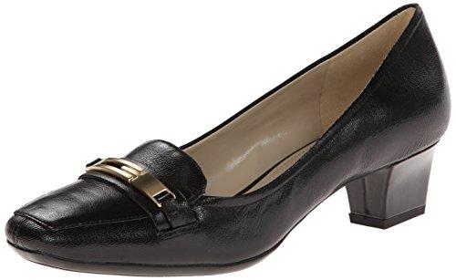Naturalizer Women's Flynn Slip-On Loafer,Black,7.5 W US