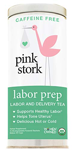 Red Leaf (Pink Stork Labor Prep: Sweet Floral Red Raspberry Pregnancy Tea, 30 Cups, USDA Organic Loose Leaf Herbs in Biodegradable Sachets)