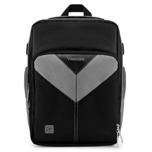 VanGoddy Sparta Travel Backpack for Olympus Evolt E-620 / E-450 / E-600 / E-420 Compact Digital SLR Cameras + Mini Tripod + Screen Protector Black & Gray