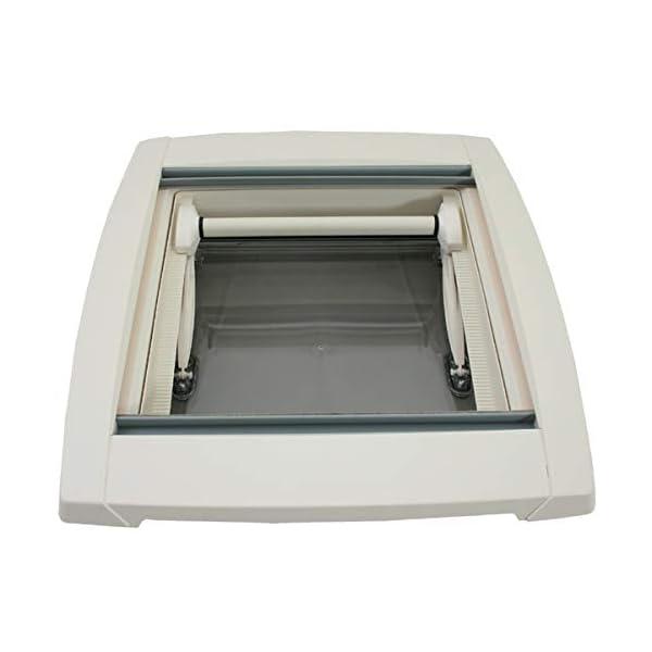 411HKAMOuuL MPK VisionStar M pro getönte Klarglas Dachluke Dachfenster Dachhaube 40 x 40 cm in perlweiß