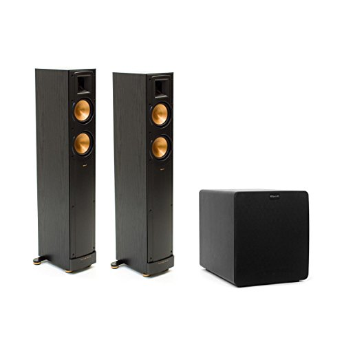 Klipsch 2.1 Reference Speaker Package With RF42II Tower Speakers And SW-110 Powered Subwoofer (Black)