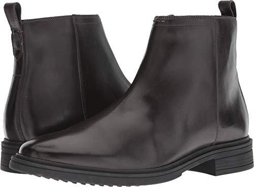 Cole Haan Men's Bernard Zip Boot Fashion, Dark Roast/Black, 12 M US (Cole Haan Medium Zip)