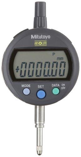 Mitutoyo 543-400B Absolute LCD Digimatic Indicator ID-C, Standard Type, M2.5X0.45 Thread, 8mm Stem Dia., Flat Back, 0-12.7mm Range, 0.01mm Graduation, +/-0.02mm Accuracy