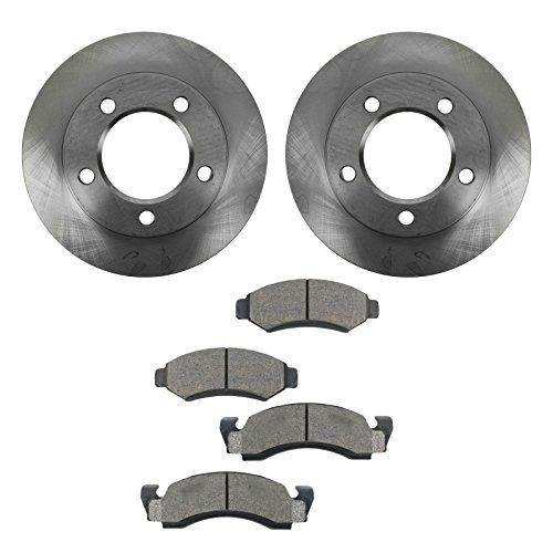 Bronco Brake Pad - Front Ceramic Brake Pad Set & 2 Rotors Kit For Ford F150 Bronco 4X4 4WD
