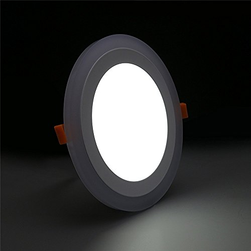 (2 Pack) Led Panel Light,BOLXZHU Led Ceiling Lights Round Double Color (Cool White+Blue),Ultrathin Led Recessed Lighting,(6+3) W Outer Diameter:150MM,Hole Size:110MM,6000-6500K,Led Downlights by BOLXZHU (Image #4)