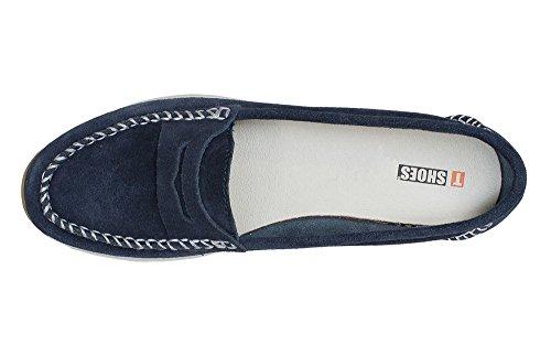 T-Shoes , Mocassins femme Bleu Marine