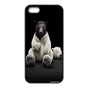 Cute Cartoon Polar Bears Series, IPhone 5,5S Cases, Bear Cases for IPhone 5,5S [Black] BY BYC DESIGNS