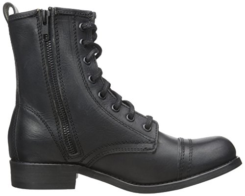 Steve Madden Charrie bota de combate Black Leather