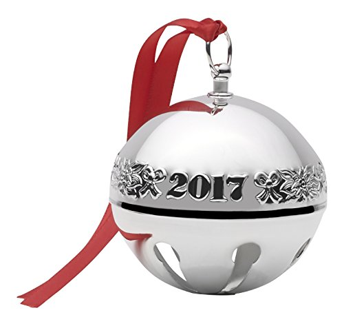 Wallace 2017 Silver Plated Sleigh Bell Ornament, 47th Edition - Bell Ornament Gold