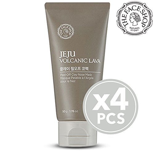 The Face Shop Jeju Volcanic Lava Peel Off Clay Nose Mask, 50