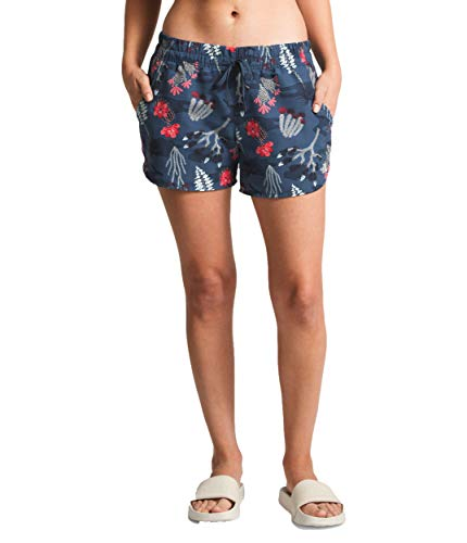 - The North Face Women's Class V Short, Blue Wing Teal Joshua Tree Print, Size S
