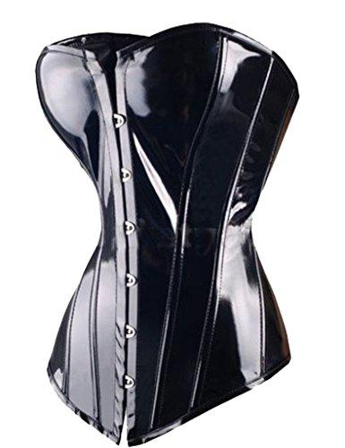 ZAMME mujers gótico Moda Acero Sin espinas Corsé Top