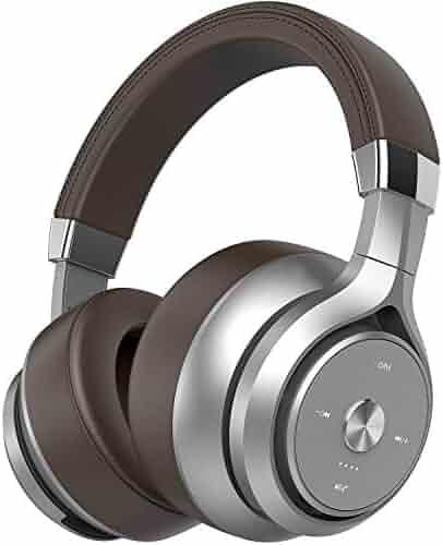 acfc6b6aa5a Picun P28S Bluetooth Headphones Over Ear 40 Hrs Playtime, CSR EQ Bass Dual  Driver HiFi