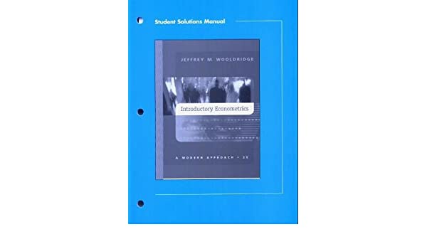 Student solutions manual to introductory econometrics 9780324149944 student solutions manual to introductory econometrics 9780324149944 economics books amazon fandeluxe Choice Image