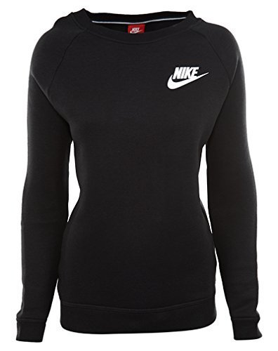 Court Womens Sweatshirt - Nike W NSW RALLY CRW womens athletic-sweatshirts 826662-010_M - Black/Black/White