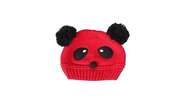 BaBaBaSM - Gorro de Ganchillo con Forma de Panda para bebé, Color ...