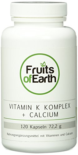 Vitamin K Komplex, K1 + K2 + Calcium + Vitamin D3, hochdosiert, 120 Kapseln, D