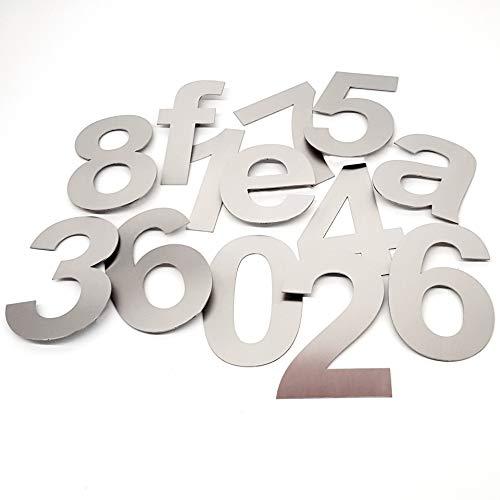 Hausnummern Edelstahl Zahlen 0-9 und Buchstaben a f mit Gewindestiften zur Befestigung 591/_gesamt 7