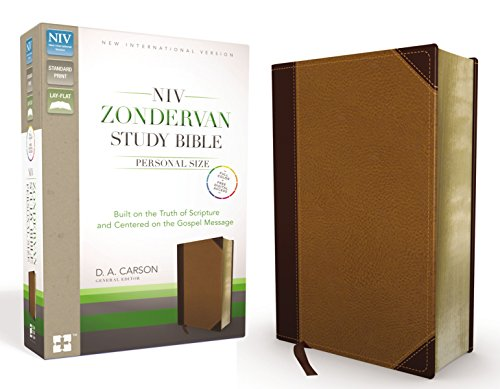 NIV Zondervan Study Bible, Personal Size, Imitation Leather, Brown/Tan