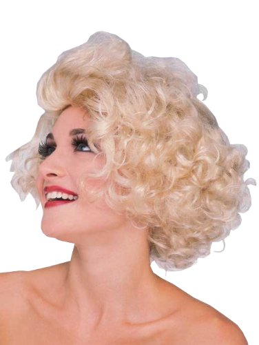 Rubie's Costume Hollywood Starlet Blond Wig, Yellow, One Size (Curly Blonde Costume Wig)
