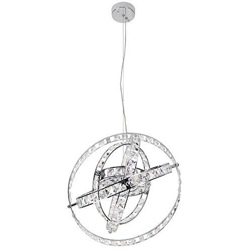 "Dainolite Lighting CAS-520C-PC 6-Light Cassini Crystal Chandelier, Finish, 22"" x 20"" x 20"", Polished Chrome from Dainolite Lighting"