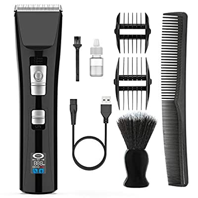 Hair Clippers for Men Kids - Nicewell Cordless Hair Trimmer Rechargeable Electric Haircut Machine with Neck Duster