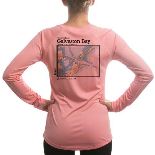 Altered Latitudes Women's Galveston Chart UPF Long Sleeve T-Shirt Small Prett...