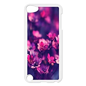Purple Flower Series, Ipod Touch 5 Cases, Purple Wildflowers Cases for Ipod Touch 5 [White]