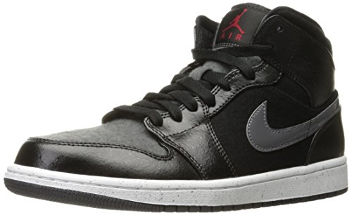 NIKE Air Jordan 1 Mid Prem Mens Hi Top Basketball Trainers (8)