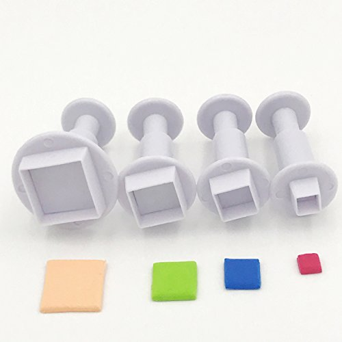 Ubaker Square Sugarcraft Plunger Cutter DIY Mold for Cupcake Toppers Fondant Cake ()