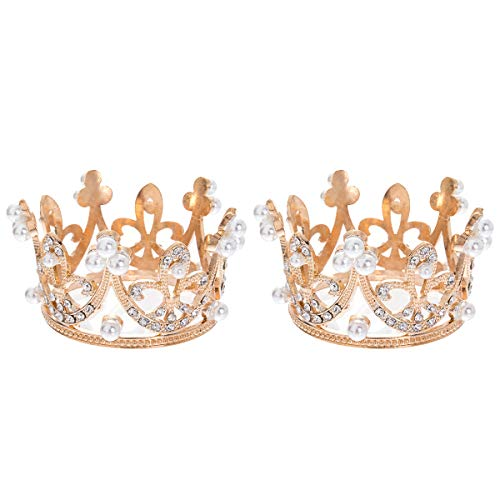 2 Pack Girl Tiaras Silver Rhinestone Crystal Crown Pearl Prom Party Bridal Wedding Headband by HEDIYE