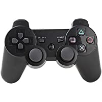 Wireless Bluetooth Controllers For PS3 Double Shock - Bundled with USB charge cord black
