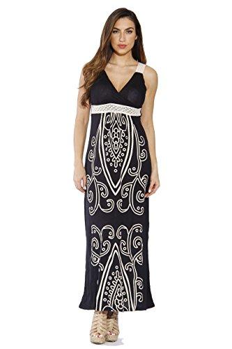 4960-54-L Black Just Love Women Dresses / Maxi Dress / Summer Dresses,Black Maxi,Large