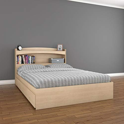 Nexera Alegria 2 Piece Full Size Storage Bedroom Set Maple