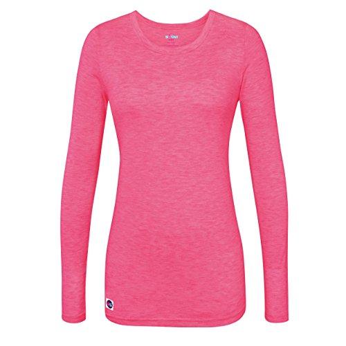 Sivvan Women's Comfort Long Sleeve T-Shirt / Underscrub Tee - S8500 - Heather Fuchsia - L -
