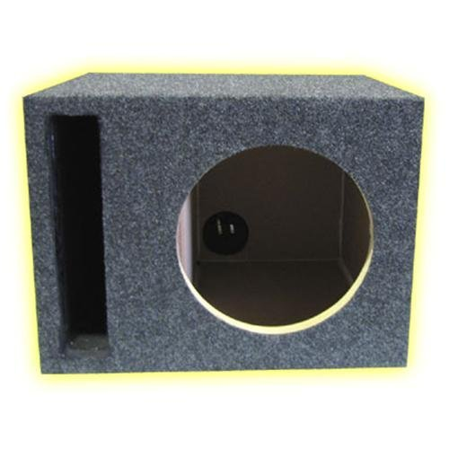 R/T 300 Enclosure Series 318-12 - Single 12-Inch Slot Vented Sub Bass Hatchback Speaker Box with Labyrinth Power Port