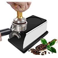 VF Stainless Steel Coffee Tamper Stand Coffee Powder Maker Rack Silicone Tamping Mat Coffee Tampers Tool Accessory Black