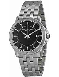 Tango Black Dial Stainless Steel Quartz Male Watch 5591-ST-20001