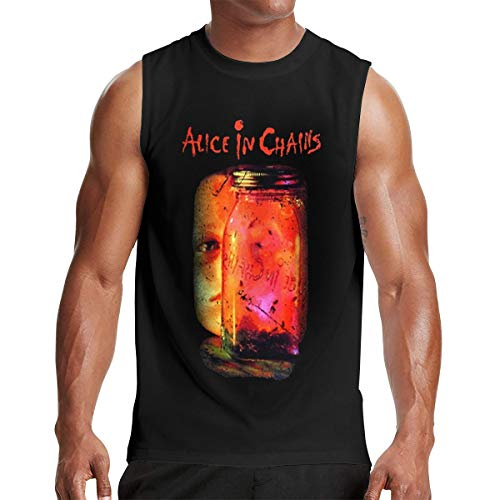 - Alice in Chains Men's T Shirts Sleeveless Round Neck Tank Top T Shirt Black