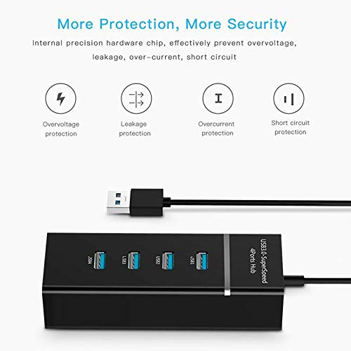 4 Ports High Speed HUBs Hi-Speed 4 Port USB 3.0 Multi HUB Splitter Expansion for Desktop PC Laptop Adapter USB HUB