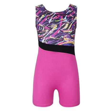 DoGeek Ginnastica Body Danza Abiti da Ballo Girls Athletic Gradient Colour Sparkle Body per Bambino Balletto Ginnastica Ginnastica Atletica Body