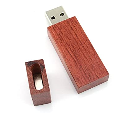 WooTeck 8/16/32/64GB Wood Cross USB Falsh Drive