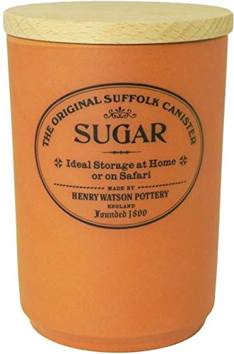(Large Airtight Sugar Canister, Made in England, The Original Suffolk Collection by Henry Watson.)