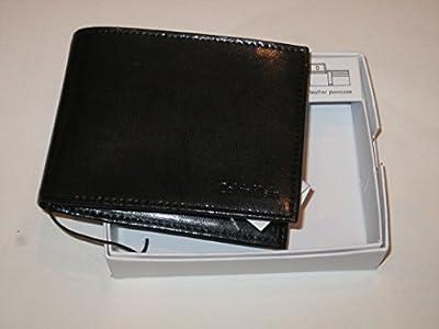 Calvin Klein Men's Leather Passcase Bifold Wallet-Black