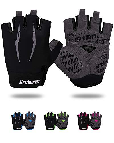 Grebarley Fietshandschoenen voor Mannen Vrouwen Fietshandschoenen MTB Handschoenen Mountainbike Handschoenen Anti-slip…