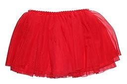 Lovelyprincess 4 Layers Red Toddler Ballet Tutu Skirts For Girls, M size